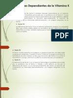 Factores Dependientes de La Vitamina K
