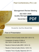 Management Review Meeting Presentation for QMS (Example)