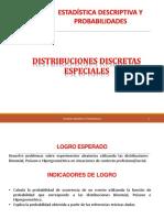 Semana 11 Sesiones 23 y 24 Distribuciones Discretas Especiales