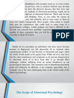 Scope of Abnormal Psychology