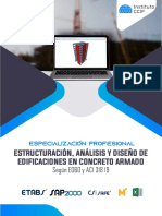 Brochure Estructuración, Análisis y Diseño de Edificaciones en Concreto Armado