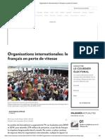 Organisations Internationales_ Le Français en Perte de Vitesse