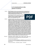 The role of scientometrics in the development of science