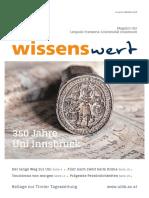 Wissenswert Oktober 2019 - Das Magazin der Leopold-Franzens-Universität Innsbruck
