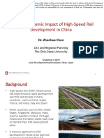 Regional Economic Impact of High-Speed Rail Development in People's Republic of China
