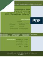 Estudio regional forestal