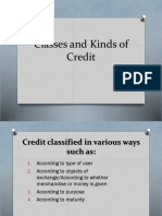 Classes and Kinds of Credit