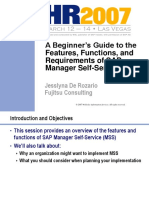 ESS MSS a Beginner's Guide to the Features_ Functions_ and Requirements of SAP Manager Self-Service MSS