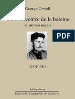 Orwell George - Dans Le Ventre de La Baleine Et Autres Essais