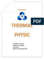 Homework Thermal Physic