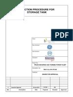 Erection Procedure ( Storage Tank)