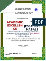 Academic Cert