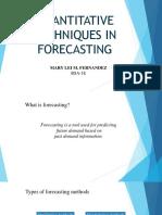 10-QUANTITATIVE-TECHNIQUES-IN-FORECASTING-Lei-Fernandez.pptx