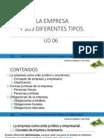 UD6 La Empresa y Sus Diferentes Tipos
