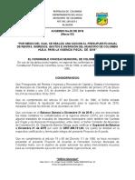 Acuerdo 03 Adicion 2016. Ultima