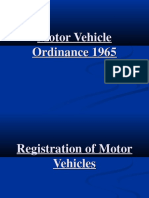 Punjan Motor Vehicle Ordinance 1965