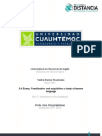 3.1 Essay Fossilization and Adquisition a Study of Learner Language Yadira Carlos
