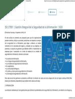 ISO 27001 _ Gestión Integral de La Seguridad de La Información _ SGSI -S