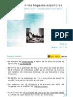 Penetración de las TIC en hogares España (ene-jun 2010)