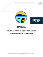 MANUAL POLÍTICAS PARA EL USO Y ASIGNACIÓN DE PARQUEOS DE LA AMSCLAE