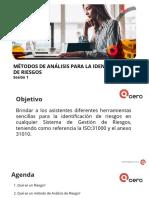 03 -19 MÉTODOS DE ANÁLISIS PARA LA IDENTIFICACIÓN DE RIESGOS Sesión 1