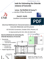 Sn2821a Electrical Methods for Estimating the Chloride Resistance of Concrete
