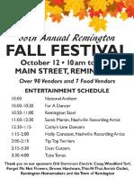 2019 Remington Fall Festival