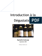 INTRODUCTION A LA DEGUSTATION DU VIN