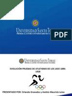Línea Del Tiempo Pruebas de Atletismo 1896-1920.