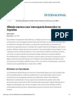 Alfonsín Convoca a Una 'Convergencia Democrática' en Argentina _ Edición Impresa _ EL PAÍS
