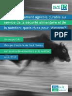 HLPE, le développement agricole durable 2016