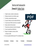 Criterios de Evaluacin Futbol Sala