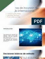 Formas de Incursión al los Negocios Internacionales