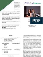 Recital Program Book