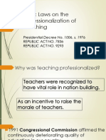 M1 Basic Laws on the Professionalization of Teaching (1)