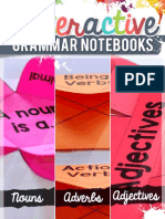 Grammar Interactive Notebook Freebie