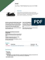 HP scanner datasheet
