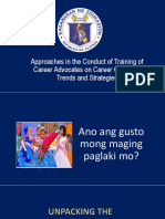 Approaches in the Conduct of Training of Career Advocates on Career Guidance Trends and Strategies