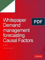 Demand Management Forecasting Causal Factors