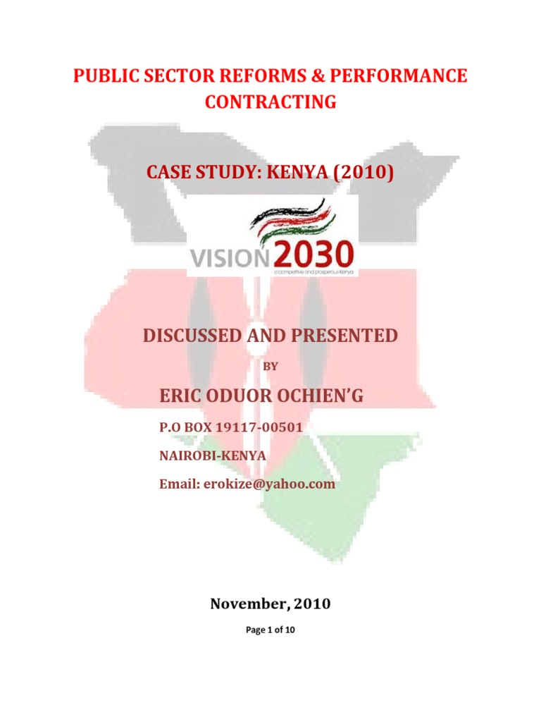 performance contract in kenya as a 44 influence of procurement practices on organization performance in private sector in kenya: a case study of guaranty trust bank kenya ltd 1karanja maruri kennedy & david kiarie2.