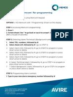 Memcom Re Programming Guide