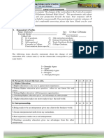 Research questionnaire sample