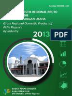 Produk Domestik Regional Bruto Kabupaten Pidie Menurut Lapangan Usaha 2013-2017_2