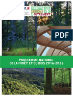 Programme National de La Fôret Et Du Bois 2016