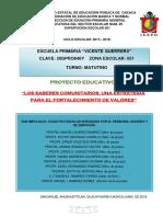 Proyecto de Valores Vicente Guerrero 2017-2018