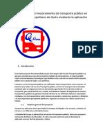 proyecto de movilidad Quito