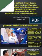 Denuncia sobre contratos millonarios Jimmy Seoane