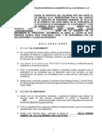Contrato de Servicios Villa de Arriagaejemplo