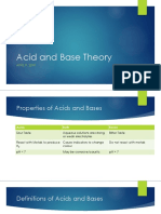 Acid and Base Theory