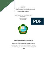 PAI 1, SEMESTER 3, FALDY ANANTA, FILSAFAT PENDIDIKAN ISLAM, RESUME 2.docx